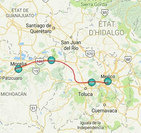 Morelia Mexico City 315 Km Bikepacking America